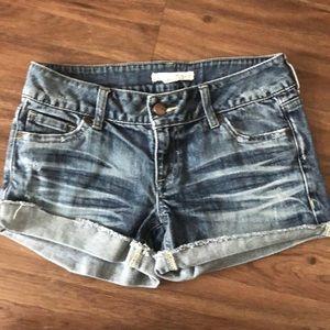 2.1  5-pocket Distressed Denim Shorts Size 26